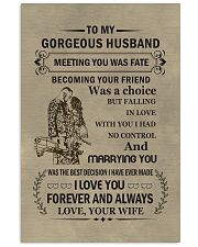 to my gorgeous husband 11x17 Poster front