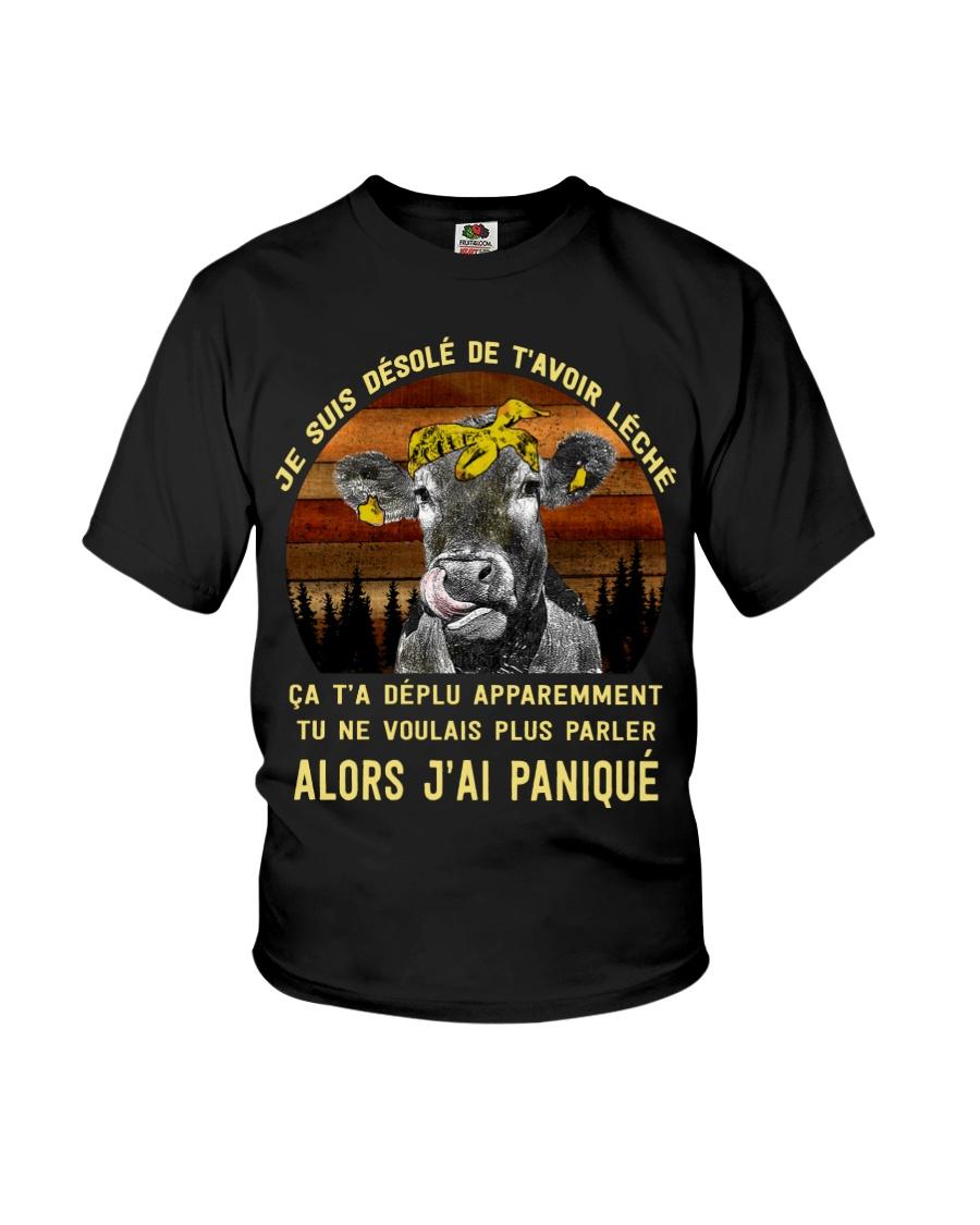 cow mug - I'm sorry I licked you french vs Youth T-Shirt