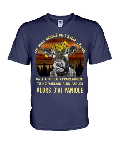 cow mug - I'm sorry I licked you french vs