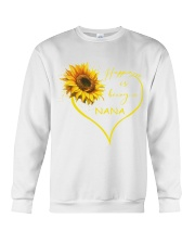 sunflower T-shirt - being a Nana Crewneck Sweatshirt thumbnail
