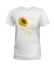 sunflower T-shirt - being a Nana Ladies T-Shirt front