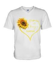 sunflower T-shirt - being a Nana V-Neck T-Shirt thumbnail