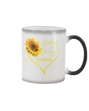 sunflower T-shirt - being a Nana Color Changing Mug thumbnail