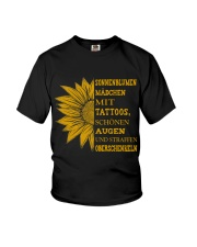 sunflower T-shirt - to girl with tatoos Youth T-Shirt thumbnail