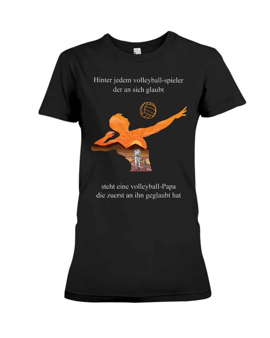 volleyball t-shirt-to dad-volleyball player Premium Fit Ladies Tee