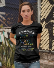 medical mug - we're trouble Ladies T-Shirt apparel-ladies-t-shirt-lifestyle-03