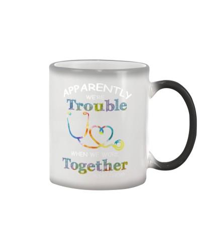 medical mug - we're trouble