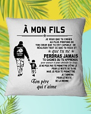 Make it the meaningful message to your son Square Pillowcase aos-pillow-square-front-lifestyle-30