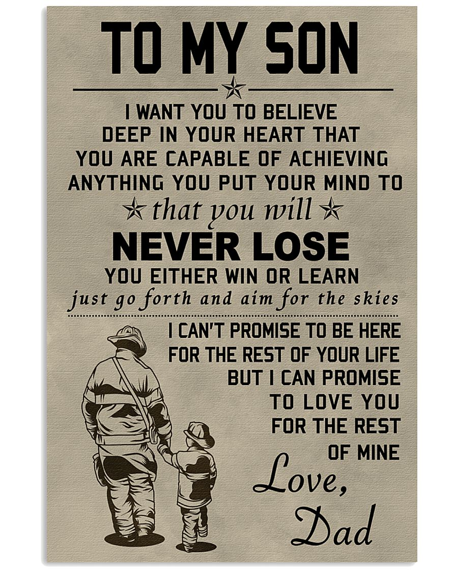 Firefighter Never lose 11x17 Poster
