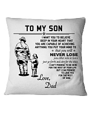 Firefighter Never lose Square Pillowcase tile