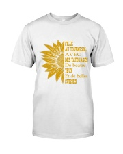 sunflower T-shirt - to girl with tatoos Premium Fit Mens Tee thumbnail