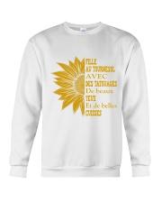 sunflower T-shirt - to girl with tatoos Crewneck Sweatshirt thumbnail