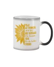 sunflower T-shirt - to girl with tatoos Color Changing Mug thumbnail