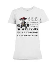 cow mug - I'm more of a mama cow french vs Premium Fit Ladies Tee thumbnail