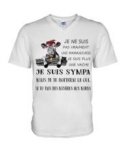 cow mug - I'm more of a mama cow french vs V-Neck T-Shirt thumbnail