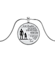 Make it the meaningful message to your daughter Metallic Circle Necklace thumbnail