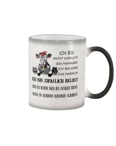 cow mug - I'm more of a mama cow german vs