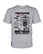 Firefighter Brother V-Neck T-Shirt thumbnail