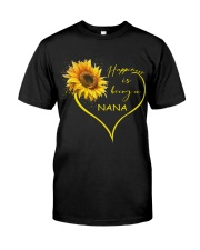 sunflower T-shirt - being a Nana Classic T-Shirt thumbnail
