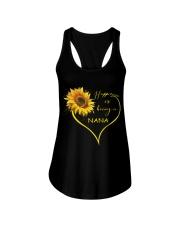 sunflower T-shirt - being a Nana Ladies Flowy Tank thumbnail