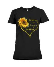 sunflower T-shirt - being a Nana Premium Fit Ladies Tee thumbnail