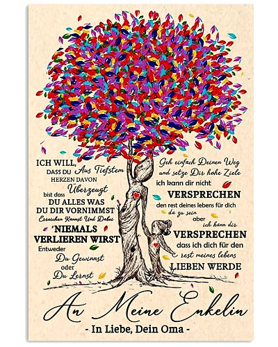 family poster - to granddaughter - never lose