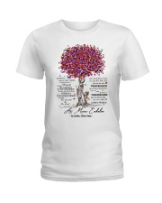 family T-shirt - to granddaughter - never lose Ladies T-Shirt front