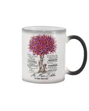 family T-shirt - to granddaughter - never lose Color Changing Mug thumbnail