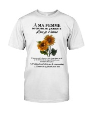 sunflower T-shirt - to wife - never forget that Premium Fit Mens Tee thumbnail