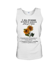 sunflower T-shirt - to wife - never forget that Unisex Tank thumbnail