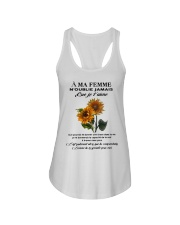 sunflower T-shirt - to wife - never forget that Ladies Flowy Tank thumbnail