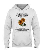 sunflower T-shirt - to wife - never forget that Hooded Sweatshirt thumbnail