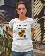 sunflower T-shirt - to wife - never forget that Ladies T-Shirt apparel-ladies-t-shirt-lifestyle-03