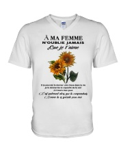 sunflower T-shirt - to wife - never forget that V-Neck T-Shirt thumbnail