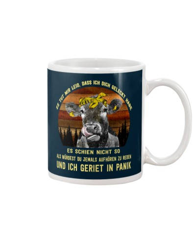 cow mug - I'm sorry I licked you german vs