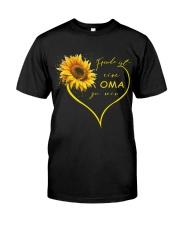 sunflower T-shirt - being a Nana german vs Classic T-Shirt thumbnail