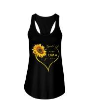 sunflower T-shirt - being a Nana german vs Ladies Flowy Tank thumbnail