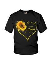 sunflower T-shirt - being a Nana german vs Youth T-Shirt thumbnail