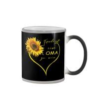 sunflower T-shirt - being a Nana german vs Color Changing Mug thumbnail