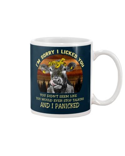 cow mug - I'm sorry I licked you
