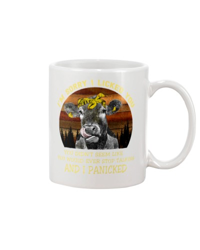 cow mug - I'm sorry I licked you