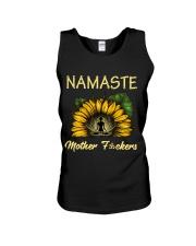sunflower mug - yoga Namaste Unisex Tank thumbnail
