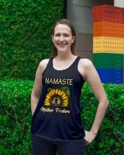 sunflower mug - yoga Namaste Ladies Flowy Tank lifestyle-bellaflowy-tank-front-2