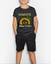 sunflower mug - yoga Namaste Youth T-Shirt lifestyle-youth-tshirt-front-1