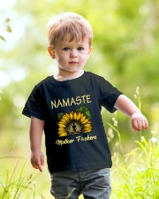 sunflower mug - yoga Namaste Youth T-Shirt lifestyle-youth-tshirt-front-5