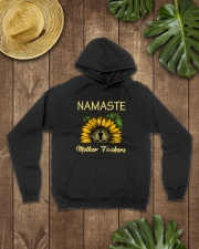 sunflower mug - yoga Namaste Hooded Sweatshirt lifestyle-unisex-hoodie-front-7