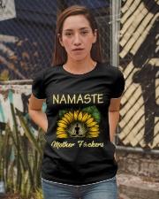 sunflower mug - yoga Namaste Ladies T-Shirt apparel-ladies-t-shirt-lifestyle-03