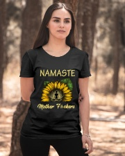 sunflower mug - yoga Namaste Ladies T-Shirt apparel-ladies-t-shirt-lifestyle-05