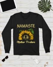 sunflower mug - yoga Namaste Long Sleeve Tee lifestyle-unisex-longsleeve-front-6