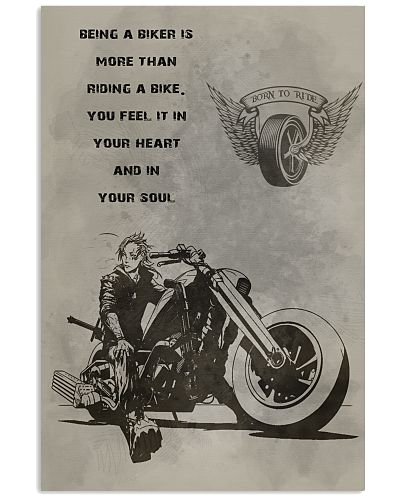 Limited Edition poster Being a biker